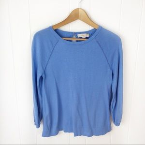 ❤️Loft•Blue pullover cotton sweater small